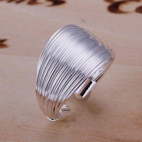 Fashion Silver Plated Coil Ring