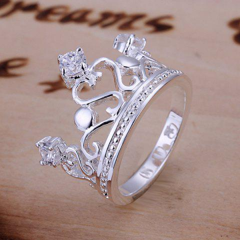 Discount Rhinestone Channel Setting Crown Shape Ring  US SIZE 8
