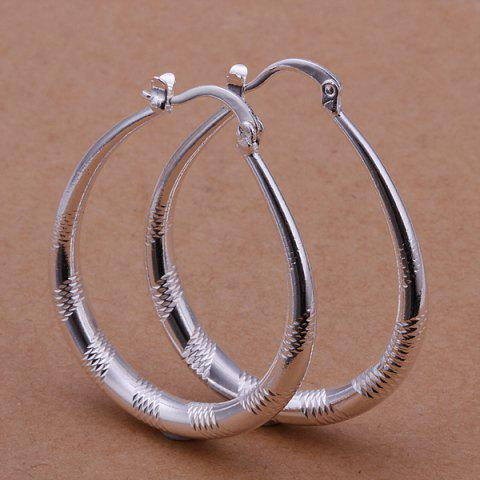 Latest Engraved Alloy Statement Hoop Earrings -   Mobile