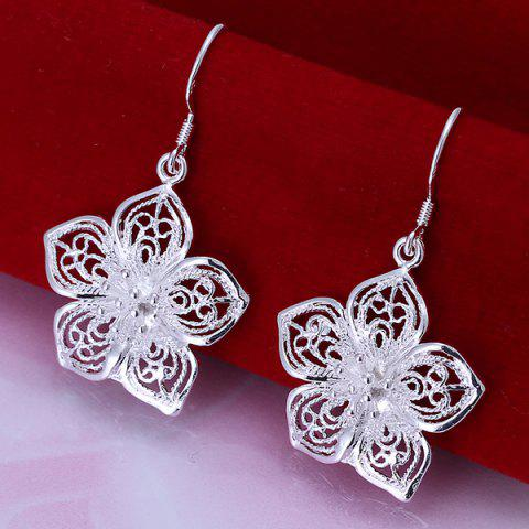 Pair Of Flower Shape Hook Earrings