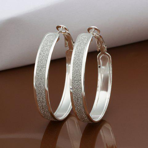 Unique A Pair Of Casual Frosted Surface Earrings