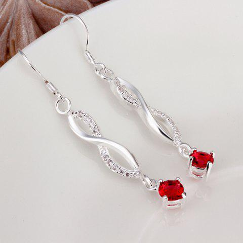 Outfits Pair of Infinity Faux Diamond Earrings