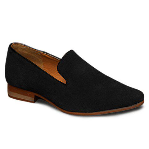 Fancy Laconic Suede and Pointed Toe Design Men's Loafers