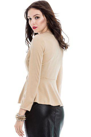 Latest Slim Fit Zip Up Peplum Jacket - M OFF-WHITE Mobile