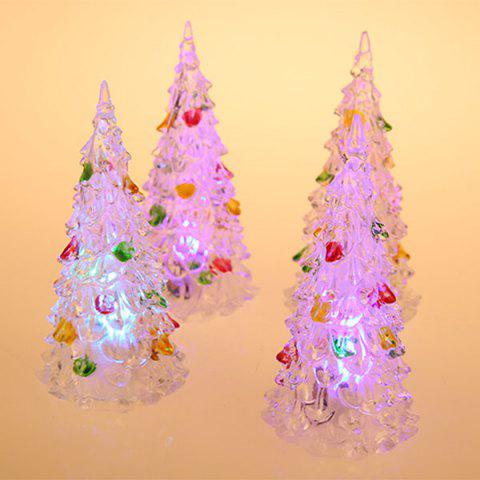 4Pcs 12cm Multi-Color Slow Twinkle Romantic LED Desktop Crystal Christmas Tree with Colorful Leaves Decoration от Rosegal.com INT
