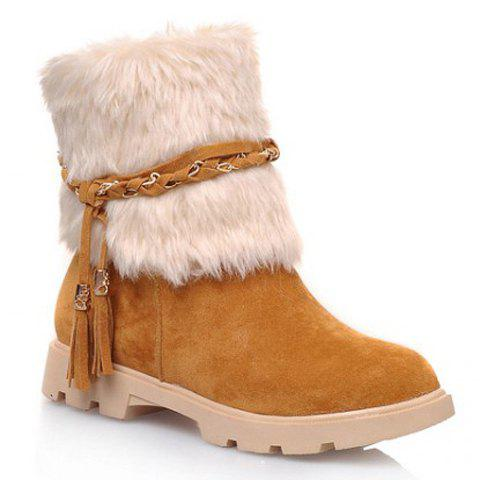 Online Cute Plush and Tassels Design Women's Snow Boots