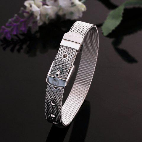 Discount Cool Watchband Shape Bracelet For Women - 20CM*1.0CM  Mobile