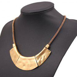 Vintage Geometric Shape Pendant Necklace -