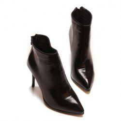 Simple Style Pointed Toe and Stiletto Heel Design Women's Ankle Boots -
