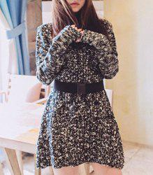 Vintage Turtle Neck Long Sleeve Slimming Knitted Women's Dress -
