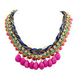 Bohemia Women's Rhinestone Beads Layered Necklace -