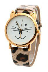 Cute Kitten Shape Watch For Women -
