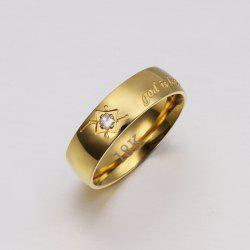 Sophisticated Style Gold Plated Ring For Men