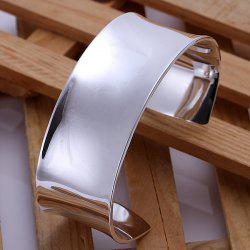 Fashionable Big And Broad Side Bracelet For Men -  DIAMETER 7CM WIDE 2.8CM