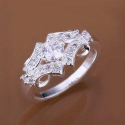 Fake Diamond Belt Shape Ring -  US SIZE 8