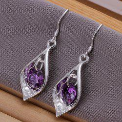 Fake Crytal Shell Drop Earrings -  4.2CM*1.2CM