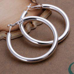 Pair of Round Openwork Earrings -  DIAMETER 5CM WIDE 0.5CM