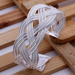 Broad Side Braid Cuff Bracelet -  DIAMETER 7CM WIDE 2.8CM