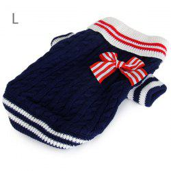 Pet Clothes Navy Style Dog Sweater for L Size (Blue)