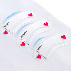 3pcs / Set Eyebrow Stencil Tool Eye Brow Template Shaper Make Up Tool