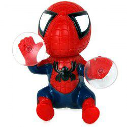 Car Decorations 12cm Spider Doll Window Sucker Climbing Spiderman Toy -