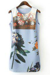 Floral Print Shift Tank Sundress