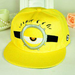 Cute Cartoon Figure Pattern Color Block Baseball Cap For Men and Women