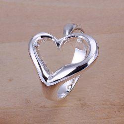 Sweet Heart Shape Silver Plated Engagement And Wedding Ring