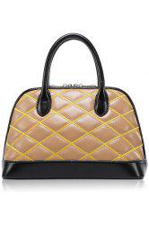 Trendy Color Block and Checked Design Women's Tote Bag