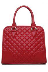 Elegant Splice and Checked Design Women's Tote Bag -