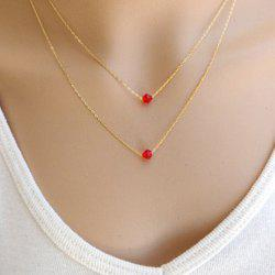 Attractive Solid Color Pendant Multi-Layered Women's Necklace -