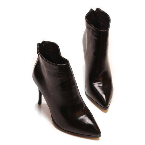 Fancy Simple Style Pointed Toe and Stiletto Heel Design Women's Ankle Boots