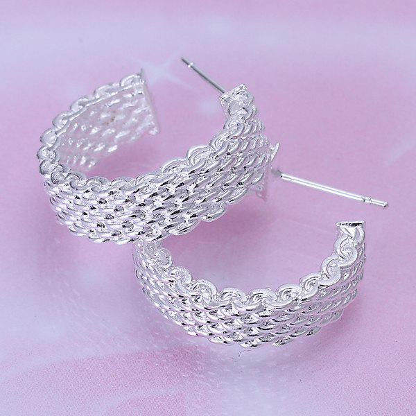 Outfit Pair of Round Alloy Stud Earrings