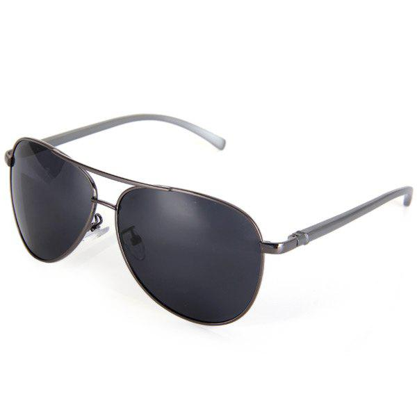 Classic Aluminum Magnesium Toad HD Polarized Sunglasses Eyewear Eyes Protector Outdoor Activities SuppliesACCESSORIES<br><br>Color: GRAY; Type: Sunglasses; Gender: Unisex; Color: Black,Gold,Gray;