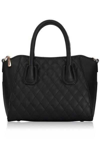 Sale Stylish Solid Color and Checked Design Women's Tote Bag