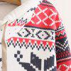 Ethnic Style Hooded Long Sleeve Flocky Printed Women's Hoodie -