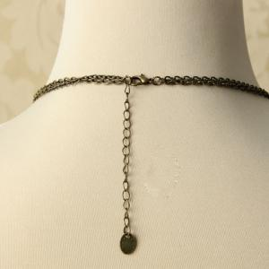 Chic Women's Beads Drop Pendant Layered Sweater Chain Necklace -