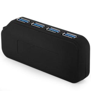 High Compatibility 5Gbps 4 Ports USB3.0 Hub Built-in Independent Switch with Charging Sync Function for Computer Cellphone Camera Mouse Printer -