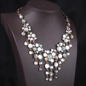 Statement Drop Beads Embellished Pendant Necklace -