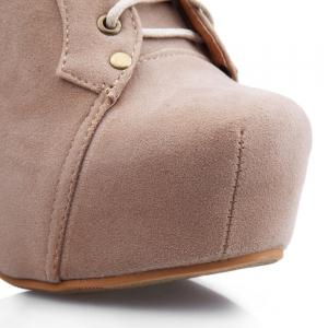 Party Joker Solid Color and Increased Internal Design Women's Ankle Boots -