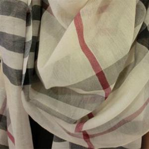 Stylish Plaid Decorated Scarf For Women -