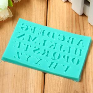 26 Capitals Style Silicone Embossing Fondant Decoration Mould Cake Decorating Sugar Arts Mold -