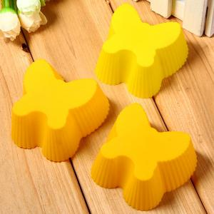3pcs Butterfly Style Silicone Embossing Fondant Decoration Mould Cake Decorating Sugar Arts Mold -