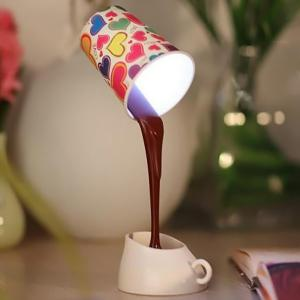 Pouring Coffee Style DIY LED Table Lamp Night Light Home Romantic Decoration -