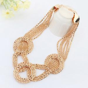 Statement Round Gold Plated Necklace -