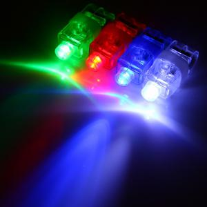 8pcs Laser Finger LED Magic Beams Ring Light for Party Creative Toy -