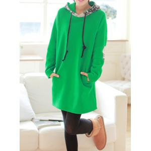 Casual Printed Spliced Loose-Fitting Long Sleeve Women's Hoodie