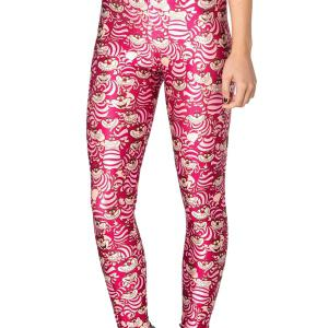 Stylish Elastic Waist Cartoon Pattern Skinny Women's Leggings - RED ONE SIZE(FIT SIZE XS TO M)