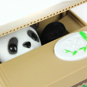 11.5CM Itazura Coin Bank Panda Saving Pot Coin Bank for Coin Collection - BROWN