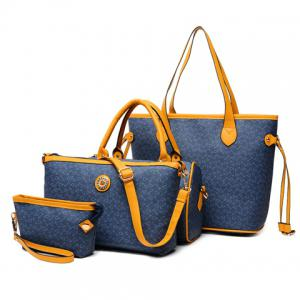 Geo Print Handbag 4Pc Set